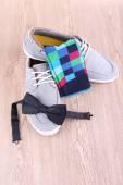 Top-siders, bow-tie and socks — Stok fotoğraf