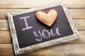 I love you on chalkboard — Stock Photo