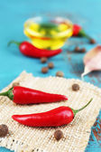 Spices and olive oil — Stock Photo