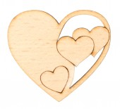 Decorative wooden heart — Stock Photo
