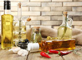 Sorts of cooking oil — Stock Photo