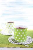 Cups on napkin — Stock Photo
