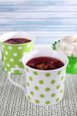 Cups and sugar — Stock Photo