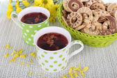Tea with biscuits — Stock Photo