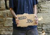 Homeless needs job — Stock Photo