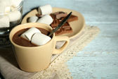 Chocolate with marshmallows — Stock Photo