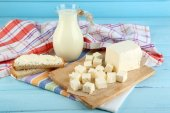 Butter on cutting board — Stock Photo
