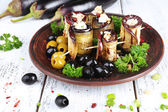 Fried aubergine with cottage cheese — Стоковое фото