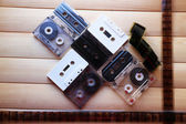 Collection of retro audio tapes — Stock Photo