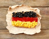 Sandwich with flag — Stock Photo