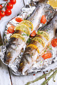 Tasty baked fish — Stock Photo