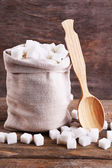 Raffinierter zucker in beutel — Stockfoto
