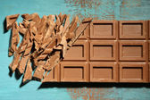 Milk chocolate bar — Stock Photo