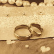 Conceptual photo: wedding in brown color style — Stock Photo #53852333