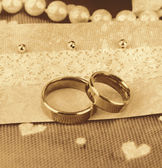Conceptual photo: wedding in brown color style — Stock Photo