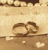 Conceptual photo: wedding in brown color style — Stockfoto
