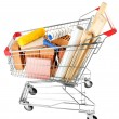 Shopping cart with materials for renovation — Stock Photo #53864501
