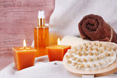 Composition with spa treatment — Stock Photo