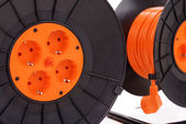 Extension electric cable reels — Stock Photo