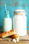 Tasty rustic milk — Stock Photo