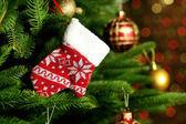 украшенная елка — Стоковое фото