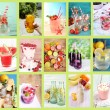 Collage of cold summer beverages — Stock Photo #53949689