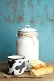 Retro can for milk — Stockfoto