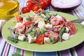Fresh breakfast with vegetable salad — Foto Stock