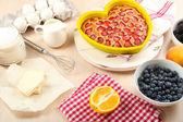 Baking tasty pie — Stock Photo