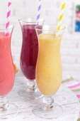 Delicious berry cocktails — Stock Photo