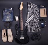Music equipment, clothes and footwear — Stockfoto
