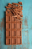 Milk chocolate bar — Stock Photo