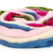 Multicolored wool for felting — Stock Photo #54040821