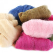 Multicolored wool for felting — Stock Photo #54040861