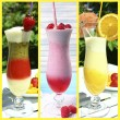 Collage of cold summer beverages — Stock Photo #54146301