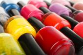 Colorful nail polishes — Stock Photo
