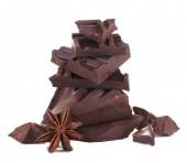 Cracked chocolate bar — Stock Photo
