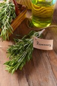 Rosemary on table close-up — Stock Photo