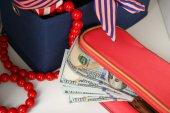 Hidden money in beautician — Stock Photo