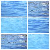 Collage of water waves — Stock Photo