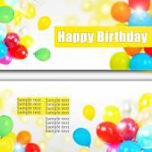 Birthday postcard — Stock Photo