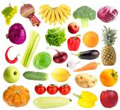 Collage of fresh fruit and vegetables — Foto Stock