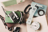 Retro things on table — Stock Photo