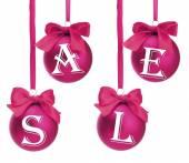 Försäljning koncept. vackra julgranskulor. — Stockfoto