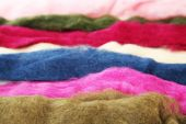 Multicolored wool for felting — Stock Photo