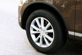 Wheel of car — Stock Photo