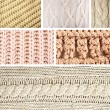 Knitted fabric collage — Stock Photo #54681899