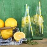 Tasty cool beverage with lemon — Stock Photo #54735197