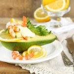 Tasty salad with shrimps — Stock Photo #54735763