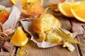 Smaczne babeczki z orange — Zdjęcie stockowe
